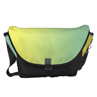 Stora grönt och gult messenger bag