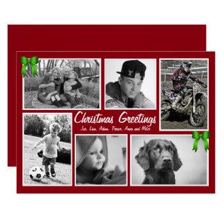 Stora julkort för familjMång--Foto lägenhet 12,7 X 17,8 Cm Inbjudningskort
