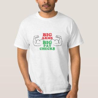 Stora lönebesked för stor ärmar t-shirts