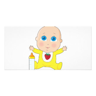 Stora ögon för baby fotokort