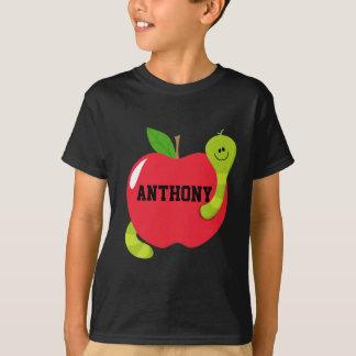 Stora röda Apple med maskdräkt Tshirts
