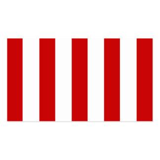 Stora röda randar på anpassadebakgrund set av standard visitkort