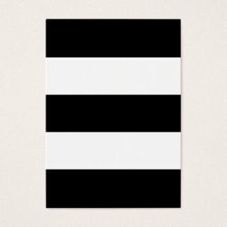 Stora svartvita randar visitkort