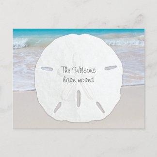 Big Sand Dollar Tropical New Address Postcards