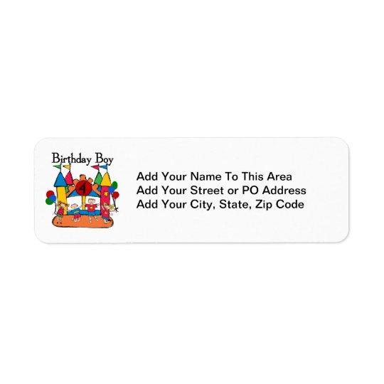 Stora Tshirts och gåvor för dunpojke4e födelsedage Returadress Etikett