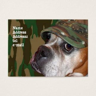 Stora visitkortar för militär boxarehund visitkort