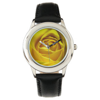 Storartad gul rosmakrobild armbandsur