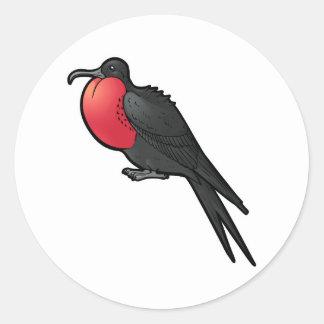 Storartade Frigatebird Runt Klistermärke