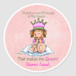 Storasyster - drottning av princessen klistermärke