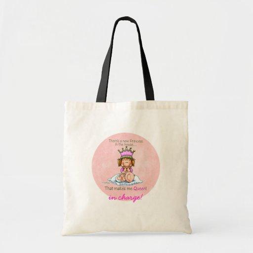 Storasyster - drottning av princessen tote bags