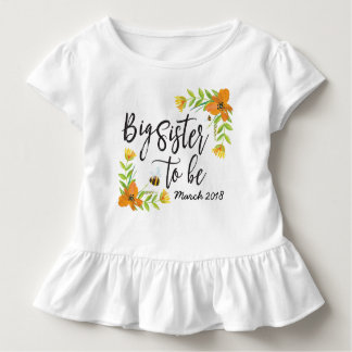 Storasyster som är gravidmeddelandeskjorta tee shirt