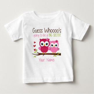 Storasystergissning som den rosa ugglan t-shirt