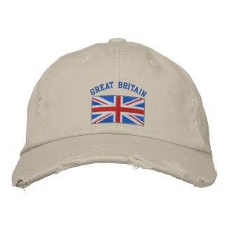 Storbritannien broderade hatten broderad keps
