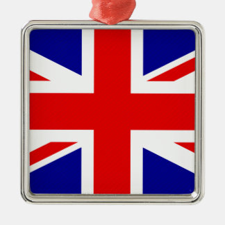 Storbritannien flagga julgransprydnad metall