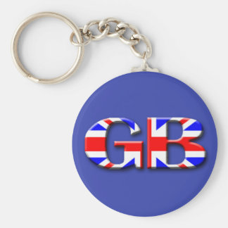 Storbritannien flagga rund nyckelring