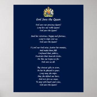 Storbritannien hyllningssångaffisch (God Save The Poster