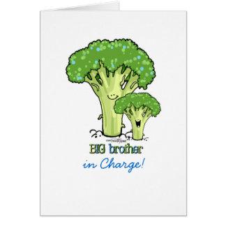 Storebror - broccoli hälsningskort