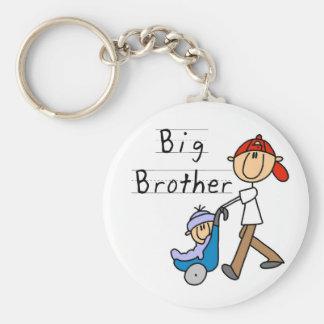 Storebror med lite brodern rund nyckelring