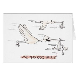 Stork (hälsningkort) hälsningskort