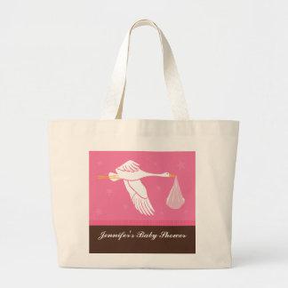 Storkbaby shower hänger lös - rosor/brunt tote bags