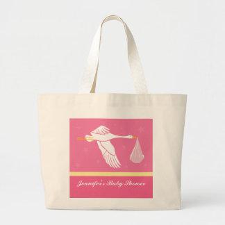 Storkbaby shower hänger lös - rosor jumbo tygkasse