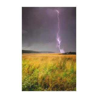 Storm över vetefälten canvastryck
