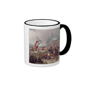 Storma bröstvärnet (olja på kanfas) kaffe kopp