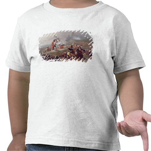 Storma bröstvärnet (olja på kanfas) t shirts