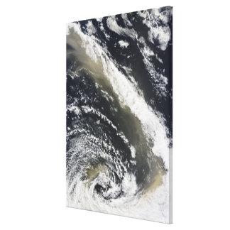 Stormby som blåser över det Tasman havet Canvastryck