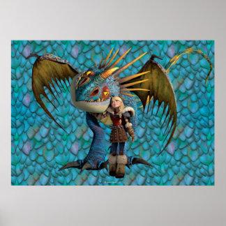 Stormfly och Astrid Poster