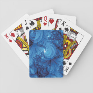 Stormig havsFractal för blått Spelkort