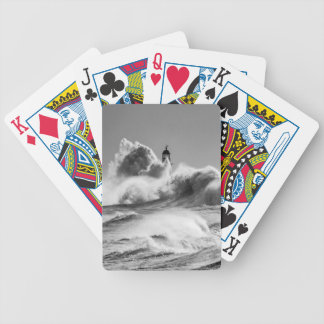 Stormiga hav på Seaham som leker kort Kortlek