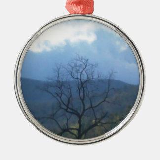 stormiga skys för mörkt träd julgransprydnad metall