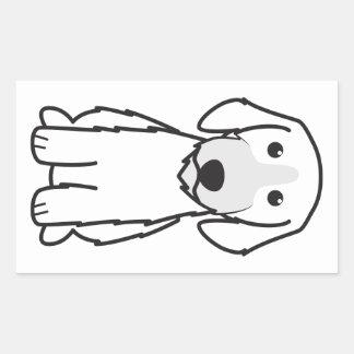 Storslagen Basset Griffon Vendeen Rektangulärt Klistermärke