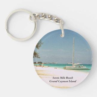 Storslagen Caymanönyckelring Dubbelsidigt Rund Akryl Nyckelring