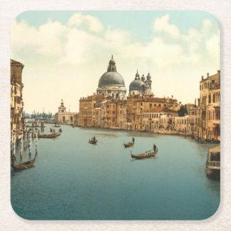 Storslagen kanal mig, Venedig, italien Underlägg Papper Kvadrat