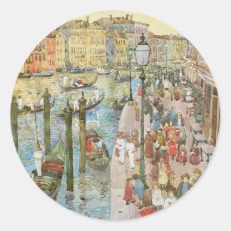 Storslagen kanal, Venedig av Maurice Prendergast Runt Klistermärke