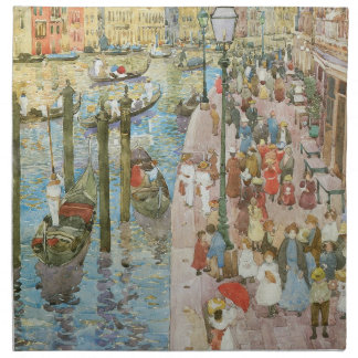 Storslagen kanal, Venedig av Maurice Prendergast Tygservett