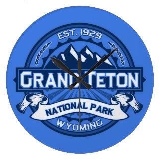 Storslagen Teton färglogotyp Stor Klocka