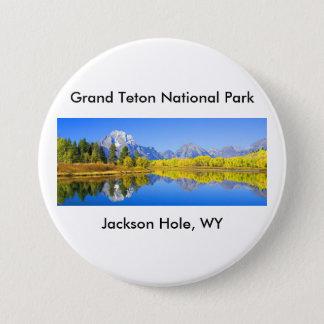Storslagen Teton nationalparkserie 1 Mellanstor Knapp Rund 7.6 Cm