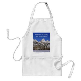Storslagen Teton nationalparkskidåkning Förkläde