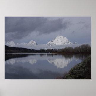 Storslaget Teton nationalparkfoto - giclee på kanf Posters