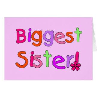 Störst systerT-tröja och gåvor Hälsningskort