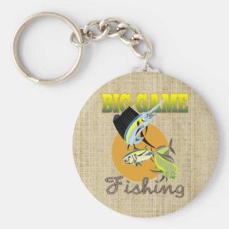 Stort modigt fiske rund nyckelring