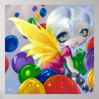 Stort öga felik födelsedagsfest för ballongKONSTTR Posters