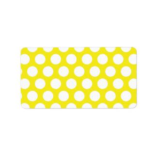 Stort pricker på gul design adressetikett