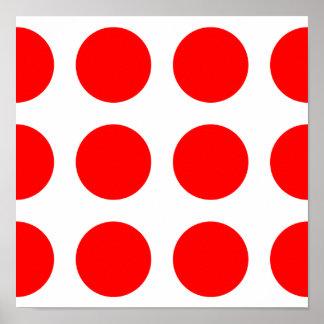 Stort rött pricker poster