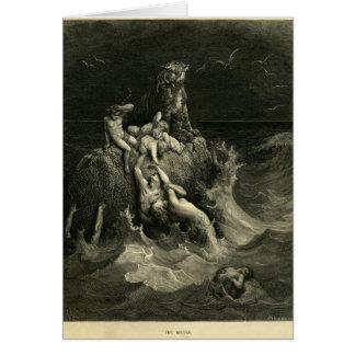 Störtfloden av Gustave Dore som baseras på Noahs Hälsningskort