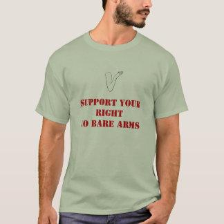 Stötta din rakt till kala ärmar t-shirts