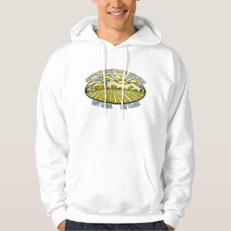 Stötta dina lokalbönder tröja med luva